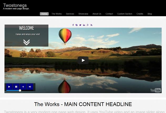 Twostonegs web page design_screenshot